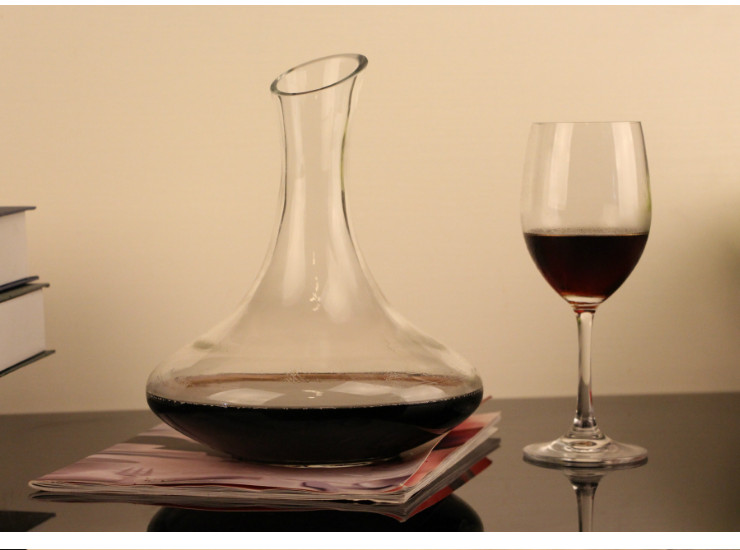 1800Ml Lead-Free Glass Oblique Red Wine Wines Wakeers Separate Jugs Single Color Box Packaging