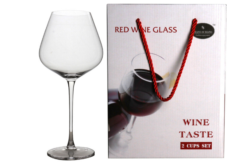 2 Color Box Set High-Grade Lead-Free Crystal Goblet Glass Wine Glass Wine Glass