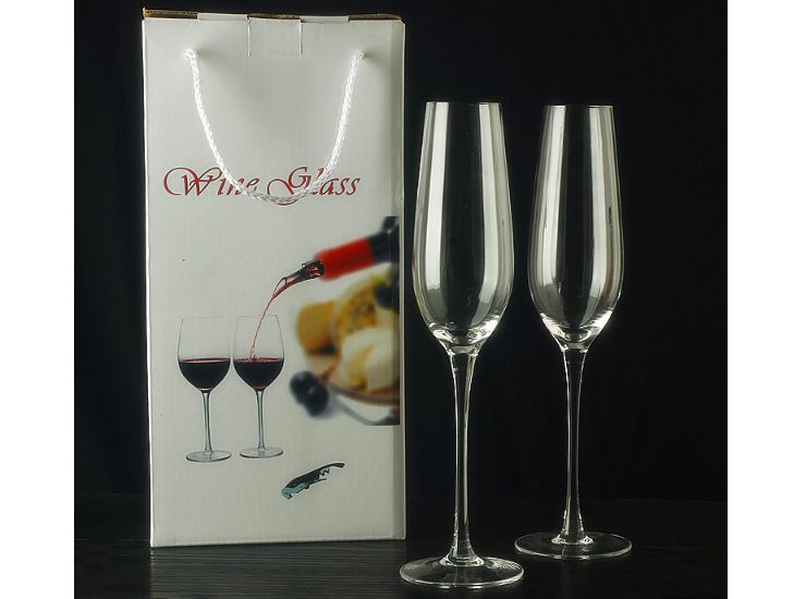 2 Gift Boxes Lead-Free Crystal Wine Glass Goblet Winery Champagne Wine Glass Gift Wine Set