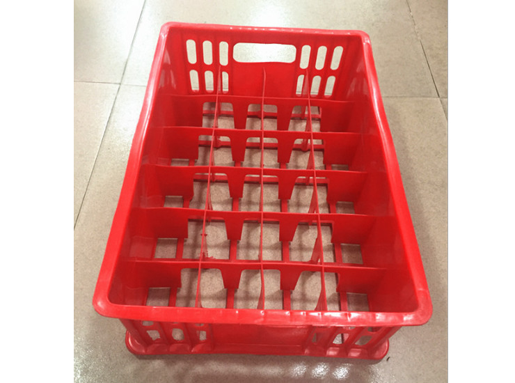 24 Grid Red Cup Baskets Plastic Beer Rack Red Wine Cup Holder Cutlery Storage Basket Wine Glass Sorting Box