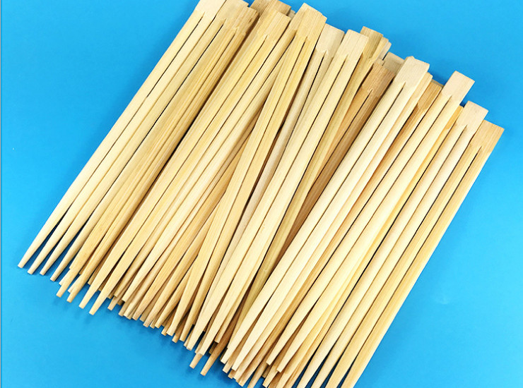 (2500 Pairs/Box) Disposable Chopsticks 21Cm/23Cm Double Students Siamese Chopsticks Green Bamboo Chopsticks (Package Delivery Door)