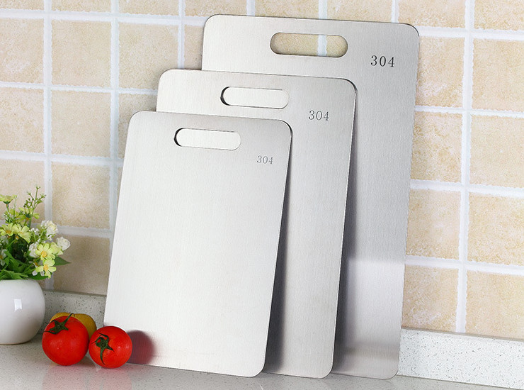 304 Stainless Steel Cutting Board Kitchen Chopping Board Chopping Board Rectangular Household