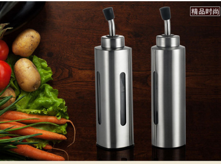 304 Stainless Steel Square Soy Sauce Vinegar Bottle
