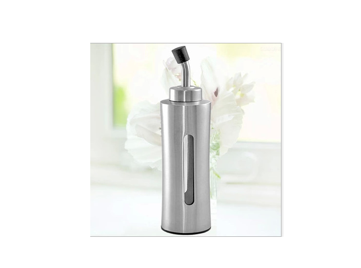 304 Stainless Steel Waist Transparent Oil Bottle Soy Sauce Vinegar Pot