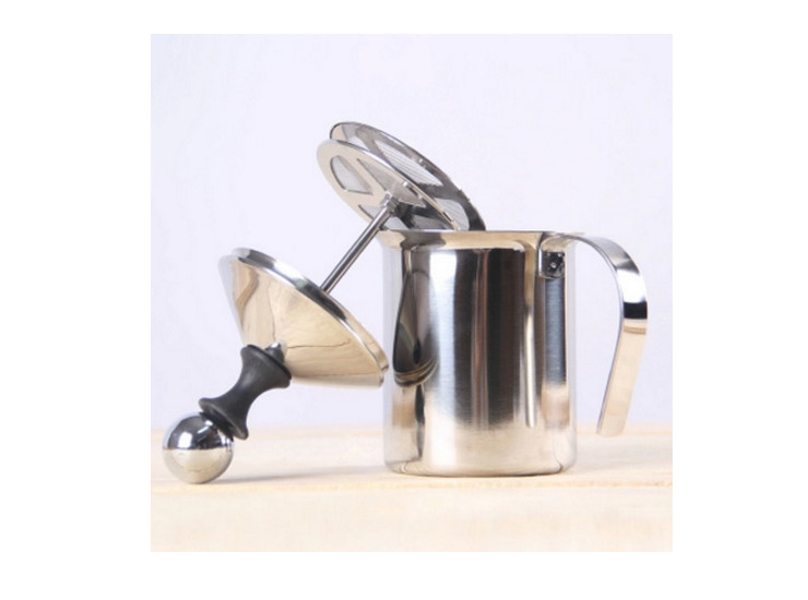 400Cc Cappuccino Japanese Double-Layer Stainless Steel Hand Hit Creamer To Play Milk Bubbler Coffee Equipment