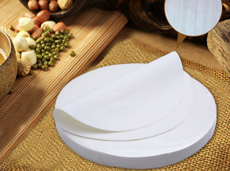 (500 Sheets) 22/24/25/26/27/28/30 / 32CM Imported Round Barbecue Paper Round Barbecue Paper Barbecue Oil-Absorbing Paper Baking Paper