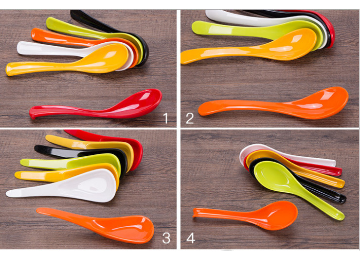 A5 Authentic Melamine Tableware Flavor Thousands Of Noodles Noodles Spoon Soup Spoon Hooks Heat-Resistant Anti-Fall