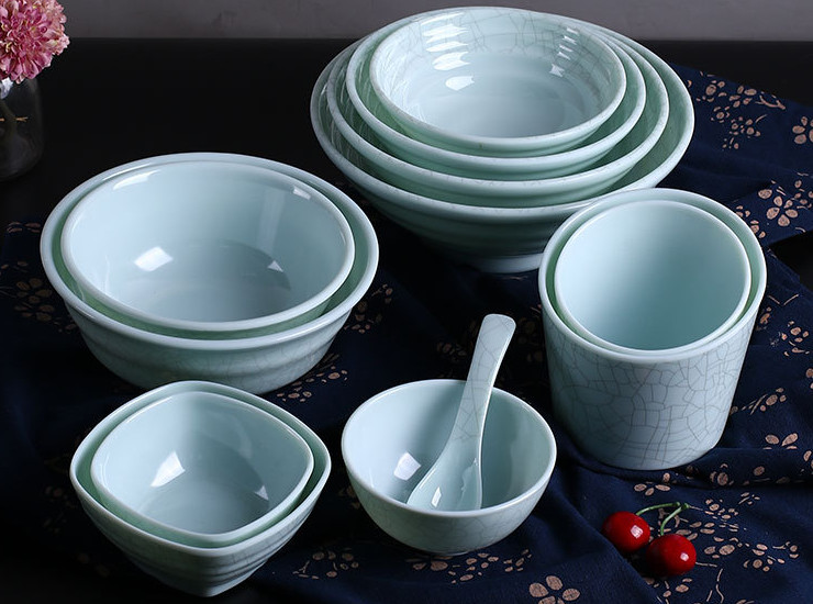 A5 Ice Crack Small Bowl Melamine Noodle Bowl Plastic Soup Bowl Rice Bowl Spicy Hot Pot Shop Commercial Bowl Melamine Tableware
