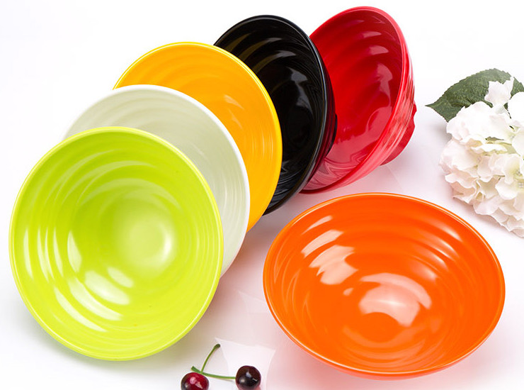 A5 Melamine Bowl Commercial Color Spicy Bowl Japanese Ajisen Ramen Bowl A5 Soup Bowl Imitation Porcelain Tableware