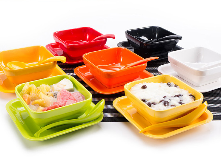 A5 Melamine Dessert Bowl Hong Kong-Style Dishes Set Color Bowl Creative Fruit Bowl Wholesale