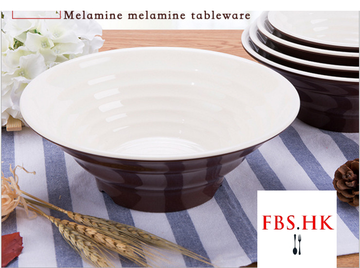 A5 Melamine Tableware Coffee White Color Ajisen Ramen Bowl Noodle Bowl Thickening