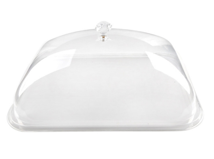 Acrylic Dish Cover Rectangular Crystal Food Preservation Cover Pc Cover Vegetable Cover Food Cover (Various Sizes)