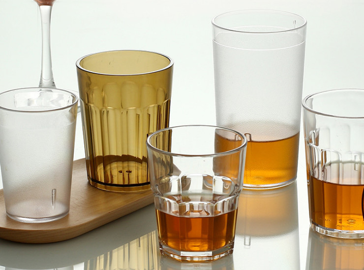 Acrylic Glass Transparent Plastic Cup Frosted Cup Beer Mug Tea Restaurant Cola Juice Drink Cup