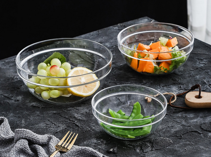 Acrylic Round Bowl Of Cold Dish Bowl Plastic Snack Bowl Fruit Bucket Hotel Salad Dessert Transparent Bowl Ktv Bar (Multiple Sizes)