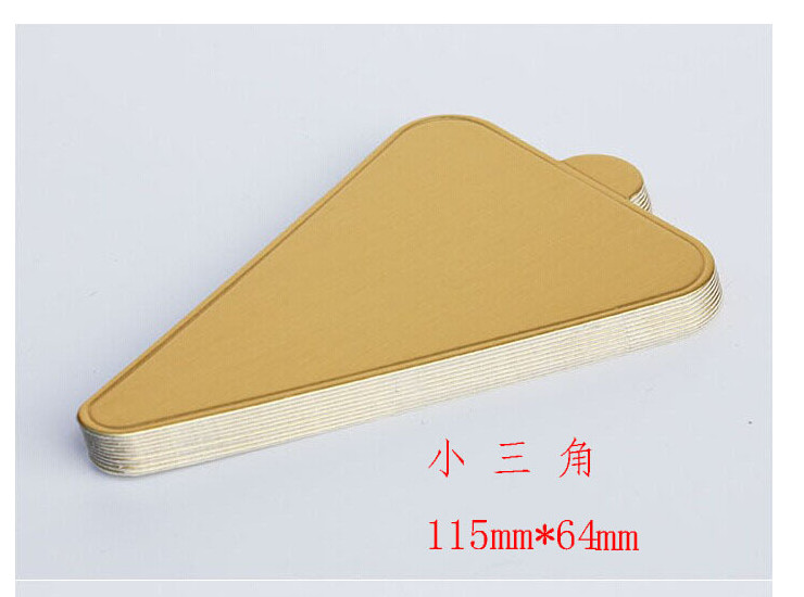 Bakery Products Gold Mousse Cake Gold Card Cake Paper Cushion Triangle Mousse Cushion Round Square Paper T Care