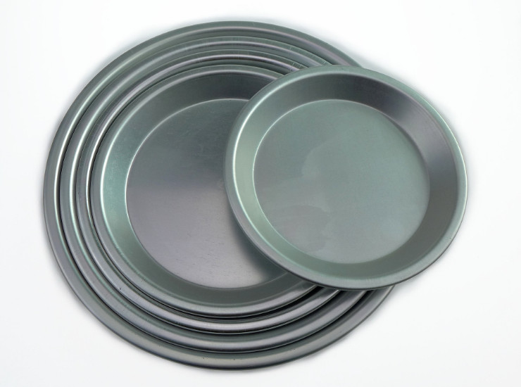 Baking Mold Shallow Pizza Plate Pizza Pizza Plate Pizza Plate Small Baking Pan Plate Spread Pan Thick Aluminum Alloy