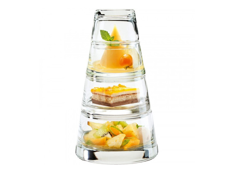Belgium Duno Durobor Three-Layer Four-Layer Glass Dessert Cup Ice Cream Cup Glass Bowl Dessert Salad Bowl Stackable (797 Series)