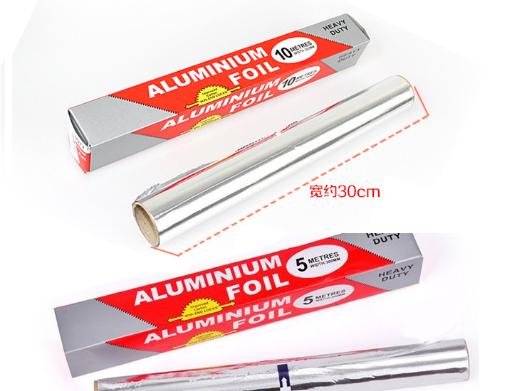 (Box / 100 Rolls) Foil Barbecue Paper Tin Foil Barbecue Thickening Foil Foil Baking Paper Foil 5 M / 10 M (Package Delivery Door)