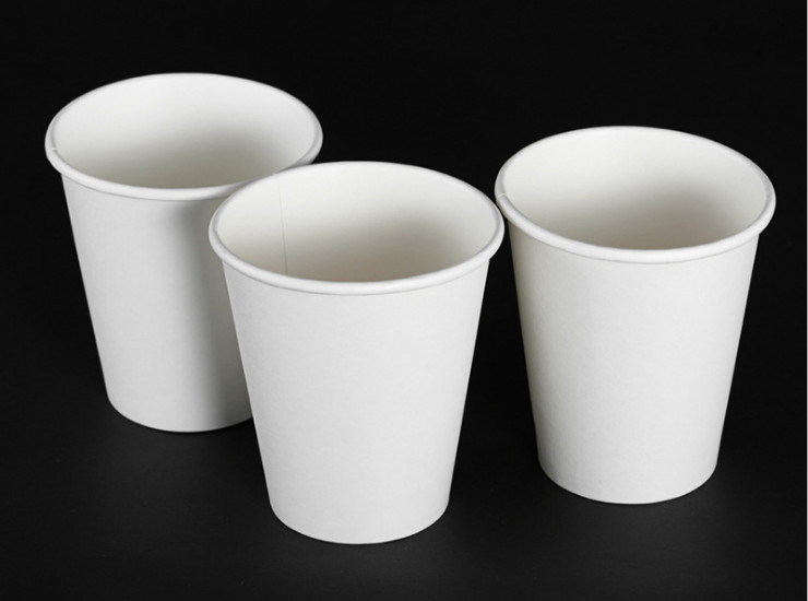 (Box / 1000 Pcs) Anti-Hot Tea Cups High-Grade Environmental Protection 12 Ounces 300Ml Thickened One-Time White Paper Cup (Door Delivery Included)