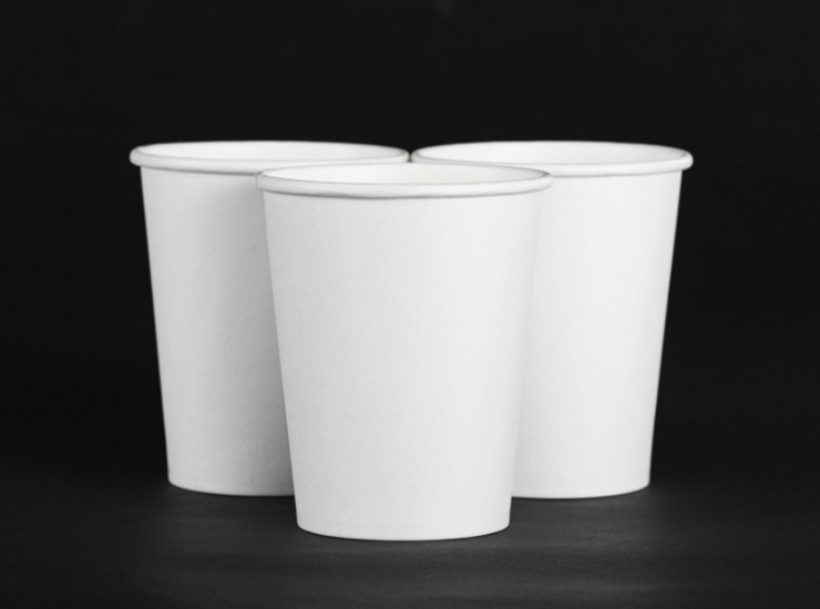 (Box / 2000 Pcs) With Specifications 260Ml9 Ounces Of White Advertising Cups 2000 One Box Thick One-Time Paper Cup (Door Delivery Included)