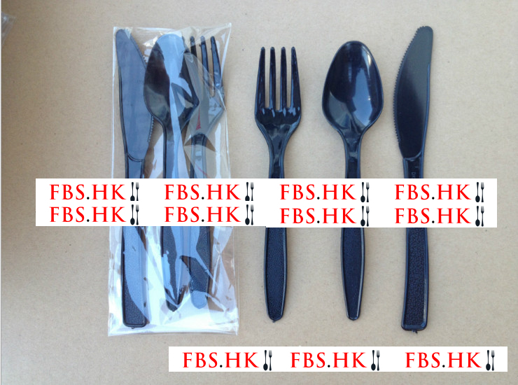 (Box / 2000 Sets) Disposable Green Plastic Cake Knife Fork Spoon / 6 Inch Knife And Fork Spoon / Knife And Fork Spoon Tableware / 4 Sets (Door Delivery Included)