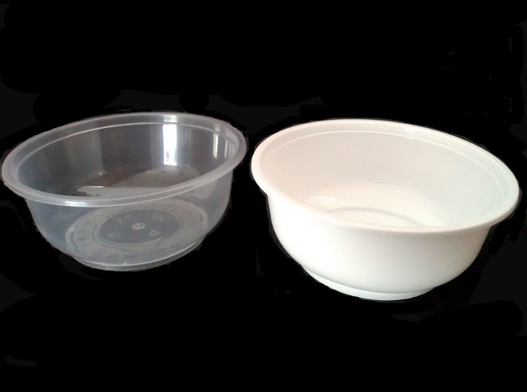 (Box / 600 Pcs) Disposable Circular Transparent Package Bowl Hotel Restaurant Takeout Bowl Bowl Bowl 360Ml Injection Bowl (Door Delivery Included)