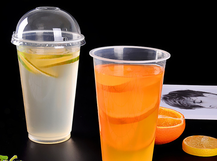 (Box) 90-Diameter PP Plastic Cup High-Transparent Plastic Pearl Milk Tea Blister Cup (Door Delivery Included)