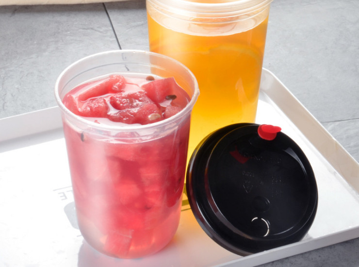 (Box) 90U Fat Injection Cup Disposable Tea Cup Thick Transparent Net Red Juice Drink Cup Fruit Cup (Door Delivery Included)