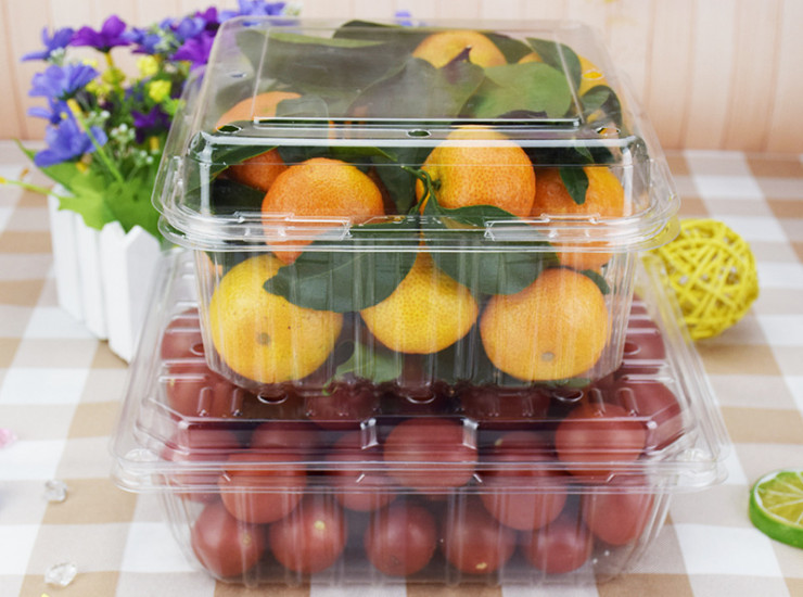 (Box) A Pound Loaded Bag Sub-Box One-Time Transparent Plastic Fruit Box Hole Fruit Box Fruit And Vegetable Box (Door Delivery)