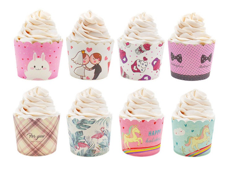 (Box) Baking Cake High Temperature Wedding Paper Cup Holiday Party Oilproof Muffin Cup Paper Cup High Temperature (Door Delivery Included)