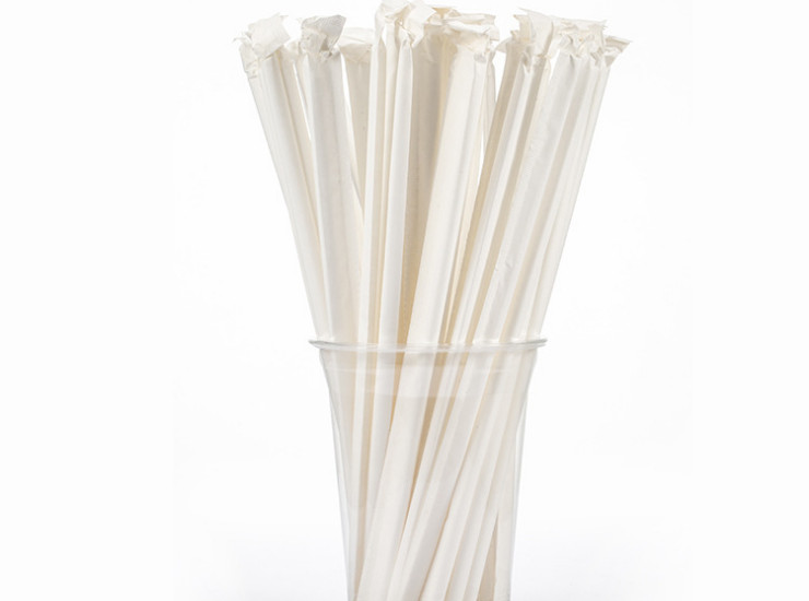 (Box) Disposable Disposable Bent Paper Tube Separate Packaging/Bagged White/Color Straw (Package Shipped To Your Door)