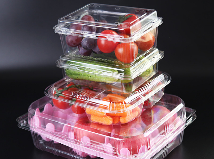 (Box) Disposable Fresh Tray Rectangular Plastic Supermarket Food & Vegetable Fresh Display Tray Fruit Box (Door Delivery Included)