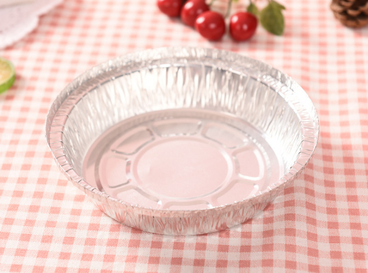 (Box) Disposable Tin Foil Bowl 7 Inch Plate 8 Inch Cake Mold Plate Armor Aluminum Foil Bowl Barbecue Plate Tin Foil Bowl (Door Delivery Included)