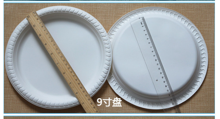 (Box) High-Grade Corn Starch Disposable Plate White Cake Dish Single Grid/Two Grid/Three Grid/Four Grid Thickened Dishes (Door Delivery Included)