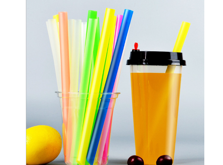 (Box) Juice Milk Tea Shop Transparent Pp Straws Disposable Plastic Straws Environmental Protection 21Cm Long Tube Independent Plastic Package (Door Delivery Included)
