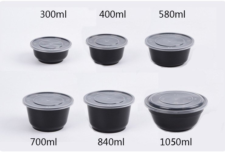 Wholesale (Box) Round Disposable Lunch Boxes/Fast Food