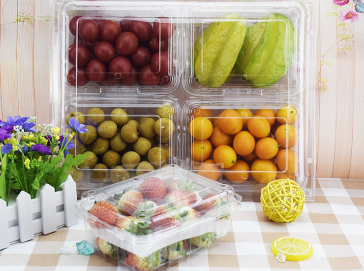 (Box) Transparent Fruit Box Plastic High-Grade Fruit Gift Box 500G Fruit Packaging Box Strawberry Box (Door Delivery)