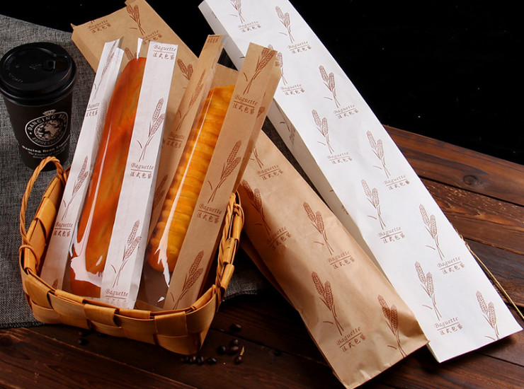 (Box) Wholesale French Bread Tip Bags One-Time Open-Window Bread Bags Customized Food-Grade Bags (Door Delivery Included)