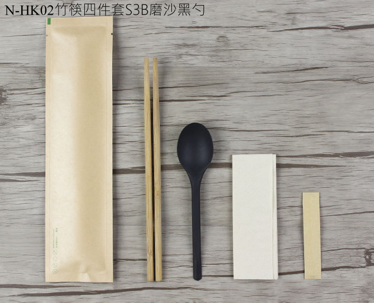 (Box/100 Sets) Disposable Chopsticks Cutlery Set Takeaway Packaged Spoon Toothpick Kraft Paper Three Or Four Sets (Door Delivery Included)