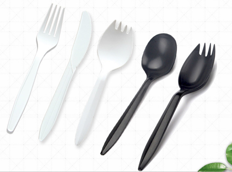 (Box/1000) 6 Inch Disposable Cutlery Spoon Starch Plastic Environmentally Friendly Degradable Tableware Thickened Western Dessert Knife (Door Delivery Included)