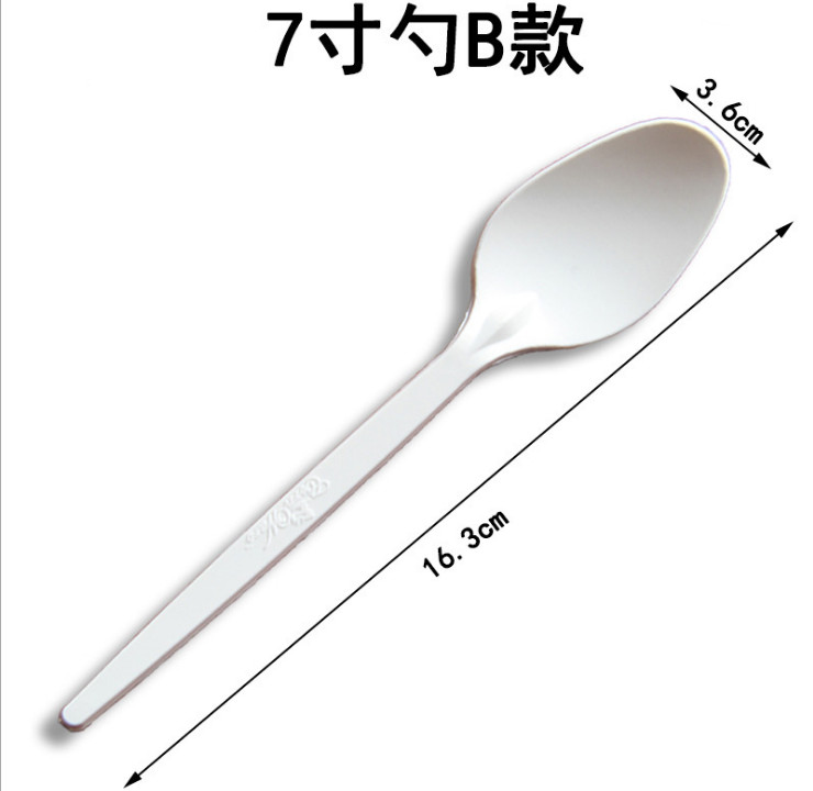 (Box/1000) 7/8 Inch Disposable Fork Starch Plastic Knife And Fork Spoon West Point Steak Fork Fruit Salad Tableware (Door Delivery Included)