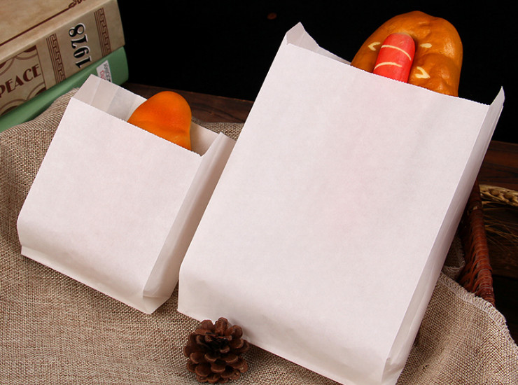 (Box/1000) Anti-Oil Paper Bag Wholesale Hand Grasping Cake Paper Bag Chicken Bag Bag Snack Paper Bag Paper Bag (Door Delivery Included)
