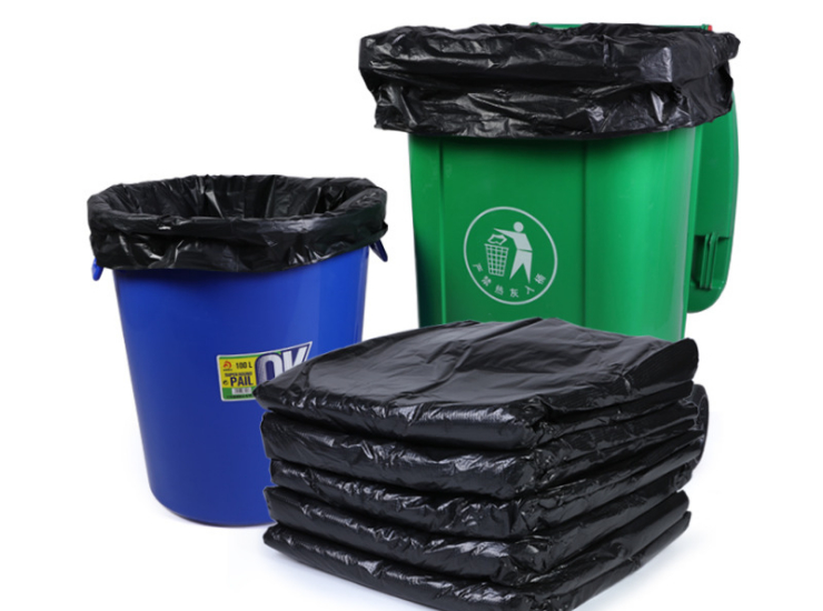 (Box/1000) Black Large Garbage Bag Wholesale Thicken Large Extra Large Plastic Bag Property Clean Pe Ping Pocket Multi Size (Door Delivery Included)