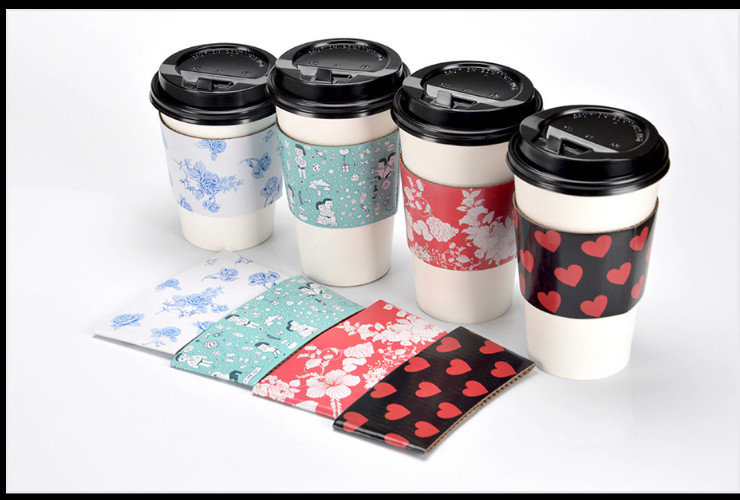 (Box/1000) Disposable Paper Cup Sets Corrugated Paper Anti-Scalding Sets Of Cups Of Coffee Milk Tea Cup Sets Of Insulation Cover Paper Sets (Door Delivery Included)