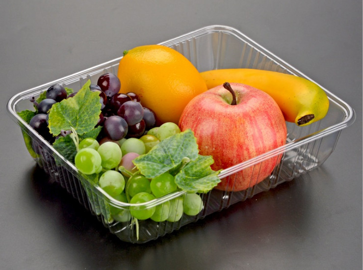 (Box/1000) Disposable Plastic Tray Deepens Pet Square Supermarket Fresh Food Tray Fruit And Vegetable Tray (Door Delivery Included)