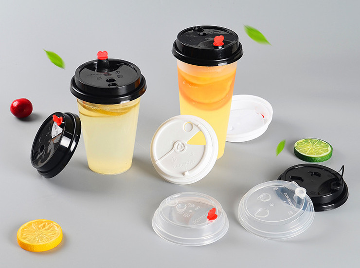 (Box/1000) New 90Mm Caliber Injection Cup Cover Wholesale Tribute Cup Lid Hot And Cold Drink Thick Pp Plastic Cup Lid Round (Door Delivery Included)