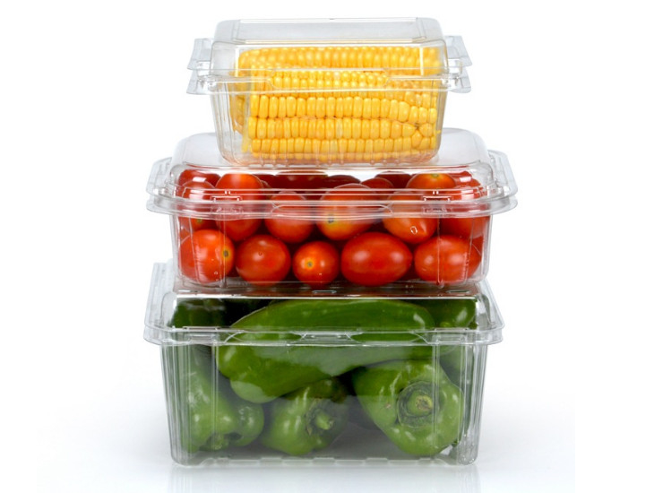 (Box/1000) New Disposable Fruit Packaging Box Transparent Covered Fruit Cutting Box Fruit And Vegetable Packaging Box Cherry Storage Box (Door Delivery Included)