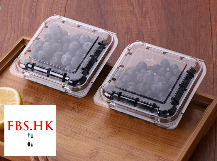 (Box/1000 Pcs) Disposable Transparent Plastic Pet Box Preservation Box Small Blueberry 125G Boutique Box 125G (Door Delivery Included)