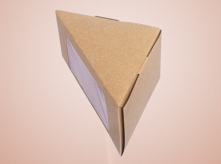 (Box/1000 Pcs) Kraft Paper Sandwich Tray Disposable Food Box Window Sandwich Box (Door Delivery Included)
