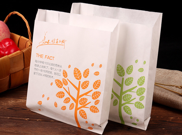 (Box/1000) Snack Bag Fried Chicken Anti-Oil Paper Bag French French Lacquer Chicken Chicken Bag Delicious Food Packaging Bags (Door Delivery Included)